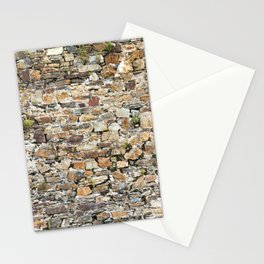Stone Wall With Weeds Stationery Cards