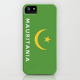 Mauritania country flag name text iPhone Case