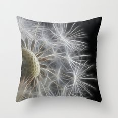Dandelion Frost Throw Pillow