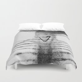 X Ray of a Pin Stuck in the Throat Duvet Cover