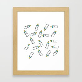 Baby feeding bottle pattern Framed Art Print