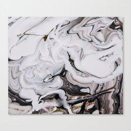 Elegant dark swirls of marble Canvas Print
