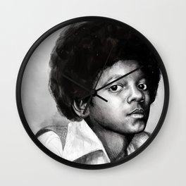 Young Michael Wall Clock