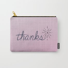 thanks* [pink] Carry-All Pouch