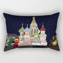 Love at the Moscow Kremlin Rectangular Pillow