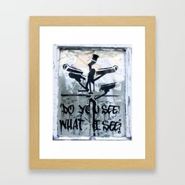 ARE WE LOOKING AT THE SAME? Framed Art Print
