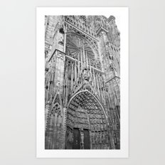 French Architecture - Strasbourg Cathedral  Art Print