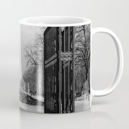 Parque de Madrid entrance BW Coffee Mug
