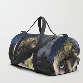 Pug and Moon Duffle Bag
