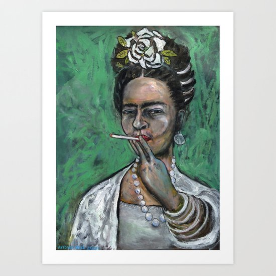 Frida Kahlo, Peg Leg Art Print