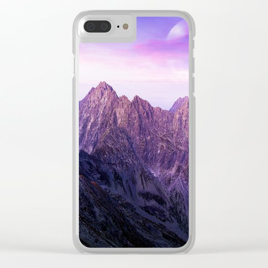 Purple Range Clear iPhone Case