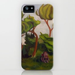 Robot in Forest iPhone Case