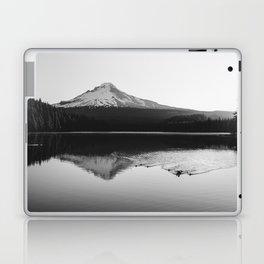 Wild Mountain Sunrise - Black and White Nature Photography Laptop & iPad Skin