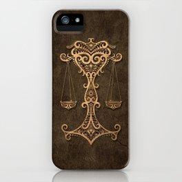 Vintage Rustic Libra Zodiac Sign iPhone Case