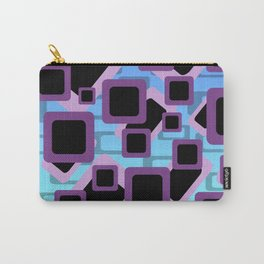 Rectangles Modern Graphic Design Violet blue  Carry-All Pouch