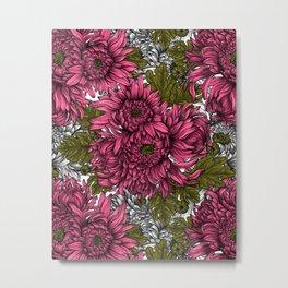 Pink chrysanthemum flowers  Metal Print