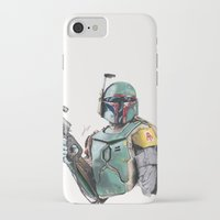boba iPhone & iPod Cases featuring Boba Fett by lunaevayg