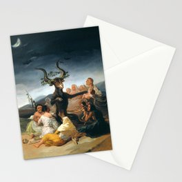 The Sabbath of Witches Goya Painting Stationery Cards