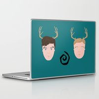 true detective Laptop & iPad Skins featuring Rust & Marty from True Detective by InQuadricromia