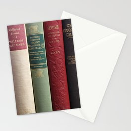 Old Books - Square Stationery Cards