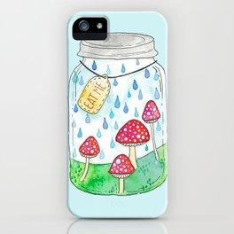 Mushrooms in Mason Jar iPhone Case