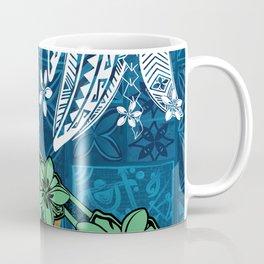 Polynesian - Samoan - Blue Hawaii Tribal Threads Print Coffee Mug