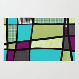 Patchwork in green Rug