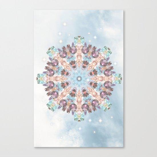 Subtle Pastel Mandala Canvas Print
