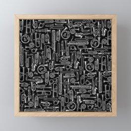 Horns B&W Framed Mini Art Print