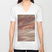 minerals V-neck T-shirts featuring Hills Painted by Earth Minerals by Leland D Howard