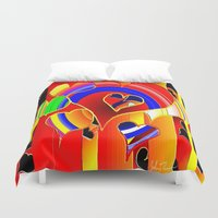 valentine Duvet Covers featuring Valentine  by JT Digital Art