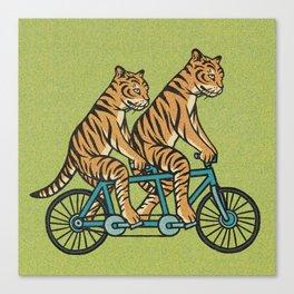 Tiger Tandem Canvas Print