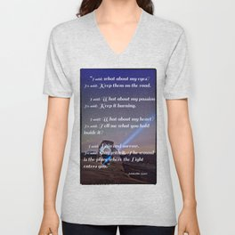 The Wound is The Place Where the Light Enters You - Rumi Unisex V-Neck