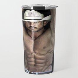 Hot Shirtless Cowboy ( Brad Paisley Look-alike) Travel Mug
