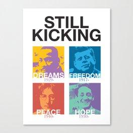 Still Kicking Canvas Print