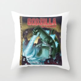 King of the Monsters Throw Pillow