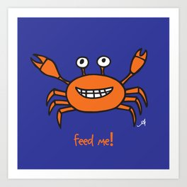 Mr and Mrs Cabby Amanya Design Blue Single FEED ME! Art Print