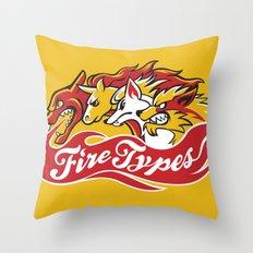 Team Fire Types Throw Pillow