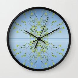 Birch on blue Wall Clock