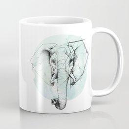 Elephant sketch // Aqua Blue Coffee Mug