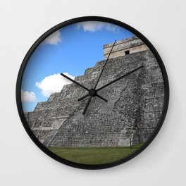 Chichen Itza Temple of Kukulcan south-west View Wall Clock