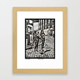 Buskers 'Galway' Framed Art Print