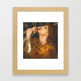 Joan of Arc by Dante Gabriel Rossetti, 1864 Framed Art Print