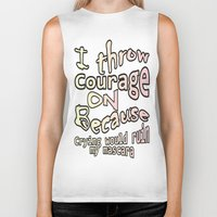 courage Biker Tanks featuring Courage by Wired Circuit