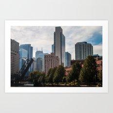 Open Bridge Cityscape Art Print