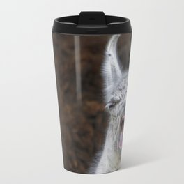 Young Lama with a big mouth   Junges Lama mit grosser Klappe Travel Mug