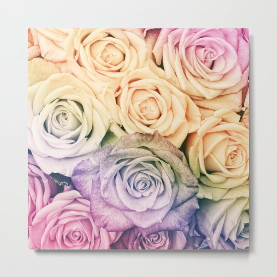 Some people grumble- Colorful Roses- Rose pattern Metal Print