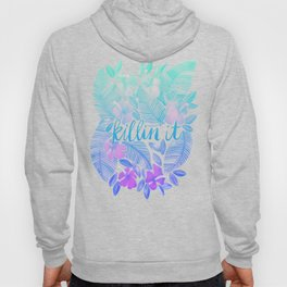 Killin' It – Turquoise + Lavender Ombré Hoody