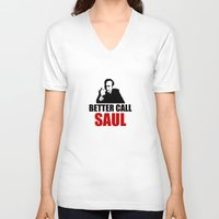better call saul V-neck T-shirts featuring Better Call Saul  by Freak Clothing