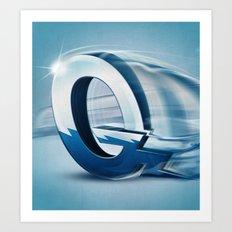 Superbet 'Q' Art Print